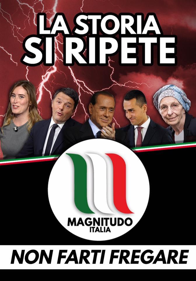 I manifesti di Magnitudo Italia per le strade di Roma